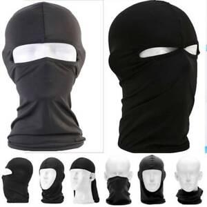 Black Balaclava Full Face Cover Motorcycle Motorbike Cycling Biker Ski Hats Cap