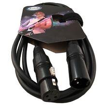 ARE Pro Audio 3 Pin XLR Female Plug To XLR Male Jack 6 FT Black Microphone DJ