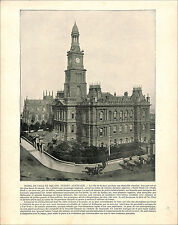 Sydney Town Hall Australia / Gustav Richter KHUFU'S PYRAMID Egypt 1897 PRINT