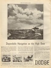 1943 WW2 AD DODGE War Production Sperry Gyro-Compass, Cannons  Convoy Art 011516