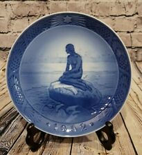 "Royal Copenhagen 1962 7� Collectable Plate ""The Little Mermaid At Wintertime�"