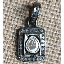 Estate Vintage 0.60cts Rose Antique Cut Diamond Silver Jewelry Stunning Pendant