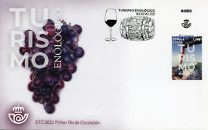 Spain Tourism Stamps 2021 FDC Winemakers Viticulture Cultures 1v S/A Set