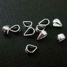 925 Sterling Silver Simple Bail - Closed Bail - 5.5 mm (20 pcs)