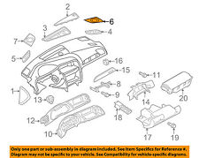 AUDI OEM Instrument Panel Dash-Speaker Cover Grille Grill Right 8T0857228ABD6