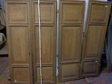 6 portes de placard ou meuble en chêne, d'époque début 18ème,original
