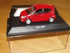 Opel Agila B Modellauto 1:43 magmarot