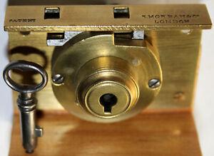 S. MORDAN & Co. Fine Antique Lock with original key, c.1820