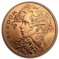 1 oncia Rame Copper 999 Moneta rame Medaglia Freedom Girl Silver Shield Rari