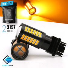 2x 3157 3156 Amber Yellow 64LED Turn Signal Blinker Parking DRL Lamp Light Bulbs