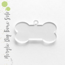 "Acrylic Keychain 3"" DOG BONE SOTO 1/8"" Thick (Clear&Colors) Pack 25-50"