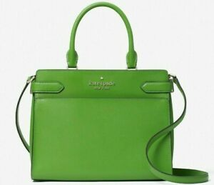 New Kate Spade New York Staci Medium Satchel Leather Turaco Green