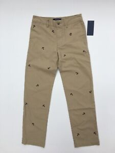 NWT Ralph Lauren Polo Boys Khaki Stretch Pants sizes 10, 12