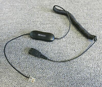 Jabra GN1200 Universal Headset Smart Coiled Direct Connect Cord - P/N: 88011-99