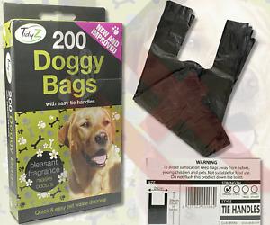 DOGGY BAGS Scented Pet Pooper Scooper Bag Dog Cat Poo Waste Toilet Poop 15-2000