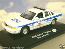 1/43 DIECAST RUSSIAN COLLECTION FORD CROWN VICTORIA MOSCOW POLICE CAR 1998