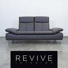 Musterring Nova Designer Leder Sofa Braun Dreisitzer Couch Relax Funktion Mod...