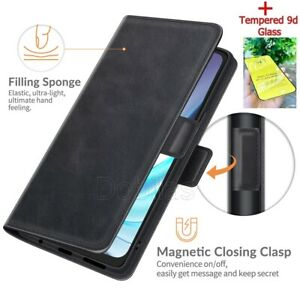 Flip Leather Phone Case for Motorola Moto G30 G50 Magnetic Wallet Cover + Stand