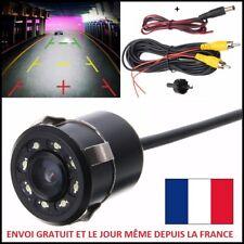 CAMERA DE RECUL MINI 8 LED VOITURE ÉTANCHE + OUTIL + CABLES ESPION RADAR FEUX AR