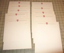 "10 Vintage PENNSYLVANIA RAILROAD COMPANY ""Reply To"" Blank Stationary Sheets"