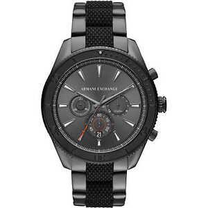 Armani Exchange Men's Chrono Gray Dial Gunmetal Stainless Steel Watch AX1816