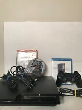 Sony Playstation 3 PS3 320gb Slim CECH-3001B Console Bundle w/ Controller Games