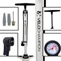 VeloChampion Bike Floor Track Pump Pro High Pressure Standing Bicycle Tyre Hand