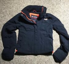HOLLISTER CALIFORNIA Womens/Girls  All-Weather Jacket PARKA ORANGE BLUE Size XS