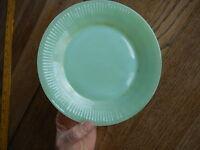 "Vintage Fire King JADEITE Jade Ite Plate 7 3/4 "" Green Kitschy has rust marks"