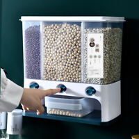 Wall Mounted Food Storage Box Kitchen Wall-mounted Container Rice Dispensers AU