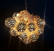 Lace effect silver string lights.Brissi brand £ 22.00