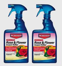 2 BioAdvanced Rose Flower Insect Killer Spray Houseplant Rainproof 24 oz 502570B