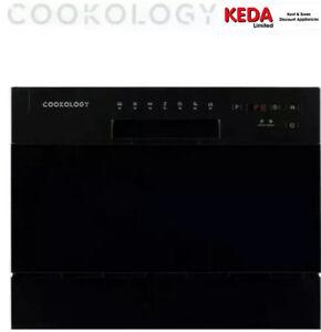 Cookology CTTD6BK Mini Counter Table Top Dishwasher 6 place Setting - Black