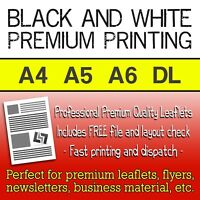 Premium Black & White Leaflets Printed - A4, A5 and A6 Flyer Printing FROM £9.50