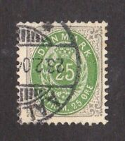 Denmark stamp #50, used, 1895 - 1901, SCV $19.50