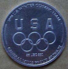 Nagano 1998 Downhill Skiing Winter Olympic Team. Aluminum Token (A113)