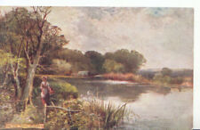 """Sussex Postcard - On The Arun - Raphael Tuck & Sons """"Oilette"""" - Ref 1112A"""