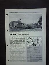 Neben u. Schmalspurbahnen  Jatznick - Ueckermünde  8  Seiten