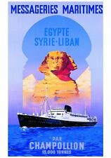 VINTAGE TRAVEL POSTER - EGYPTE SYRIE-LIBAN Guena French Maritime Art Print 28x40