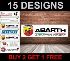 Abarth Banner Garage Workshop pvc Sign, Fiat 500, 500C, Punto EVO