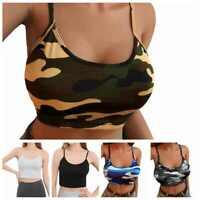 Sleeveless Vest Sexy Women Camouflage Crop Tops Camisole Bra Tank T-shirt Blouse