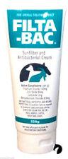FILTA BAC Anti-Bacterial Sunscreen horses dogs reptiles animal sunburn 120g
