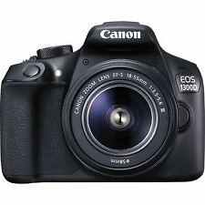 Canon EOS 1300D 18.0MP Digitalkamera - Schwarz (Kit mit EF-S 18-55mm III DC Obj…