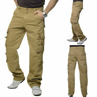 Cargo Men's Trousers Loose Fit Chino Jeans Beige Men´s NEW