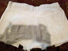 current elliot white denim destroy boyfriend shorts 25