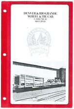 Westside Brass G-file #45 D&RG Wheel+Tie Car  HO