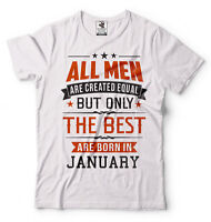 All Men Created Equal But Best Are Born In January Funny Birthday Gift T-shirt