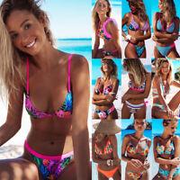 2019 Summer Floral Swimwear Bikini Set Push-up Padded Bra Bathing Suit Swimsuit