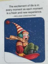 Mary Engelbreit Handmade Magnet-The Excitement Of Life Is In Every Moment