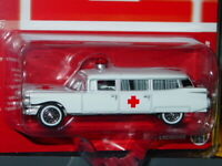 JOHNNY LIGHTNING 1959 59 CADILLAC COLLECTIBLE AMBULANCE -White, 1/3600 MIP